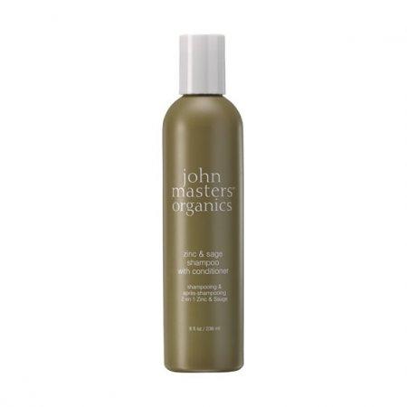John Masters Organics, szampon do włosów przetłuszczających się i z łupieżem, 236ml