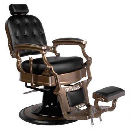 Fotel barberski Gabbiano Old Ernesto, czarny