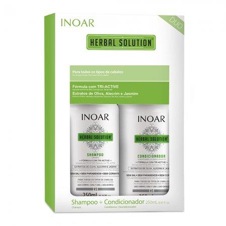 Zestaw Inoar Herbal Solution Duo Pack, szampon + odżywka, 2x250ml - uszkodzone opakowanie