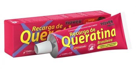 Novex Brazilian Keratin, odżywczy i stylizujący krem z keratyną, 80g
