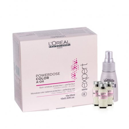 Loreal Vitamino Color Power Dose, kuracja wzmacniająca do włosów farbowanych, 15x10ml + aplikator