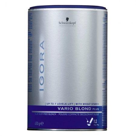 Schwarzkopf Igora Vario Blond Plus, bezpyłowy rozjaśniacz do 7 tonów, 450g