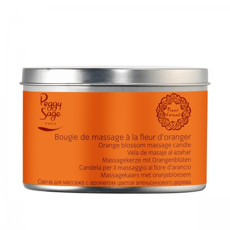 Peggy Sage, świeca do masażu, Orange Blossom, 120g, ref. 480251
