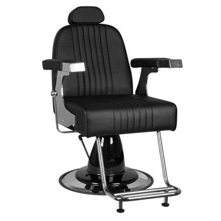 Fotel barberski Gabbiano Gino, czarny