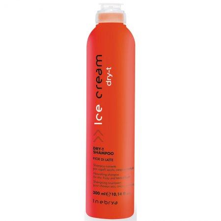 Inebrya Dry-T, szampon do włosów suchych i zniszczonych z proteinami jedwabiu, 300ml
