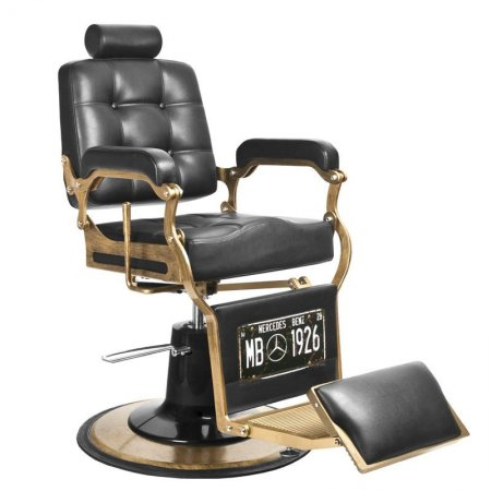 Fotel barberski Gabbiano Boss, czarny
