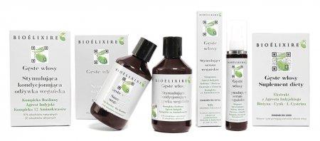 """Bioelixire, kompleksowy zestaw przeciw wypadaniu włosów """"Gęste Włosy"""", 3x300ml +150ml"""