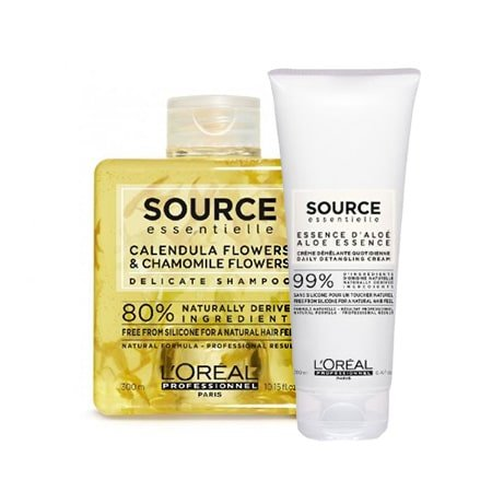 Loreal Source Essentialle Delicate, zestaw do wrażliwej skóry głowy, 300ml + 200ml