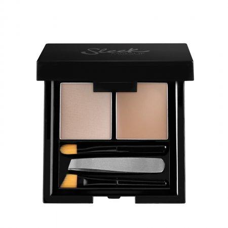 Sleek Makeup Brow Kit, paleta do stylizacji brwi, Light