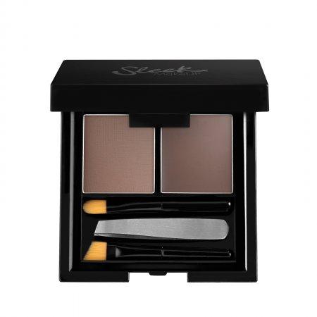 Sleek Makeup Brow Kit, paleta do stylizacji brwi, Dark