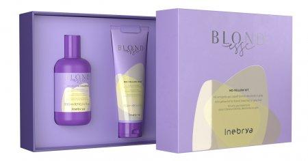 Inebrya Blondesse No Yellow, zestaw: szampon + maska, 300ml + 250ml