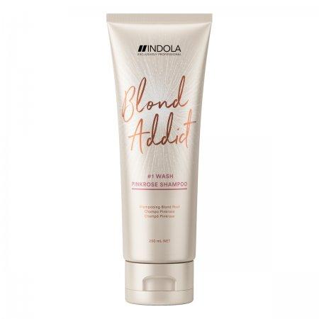 Indola Blond Addict PinkRose, szampon do truskawkowych odcieni blondu, 250ml
