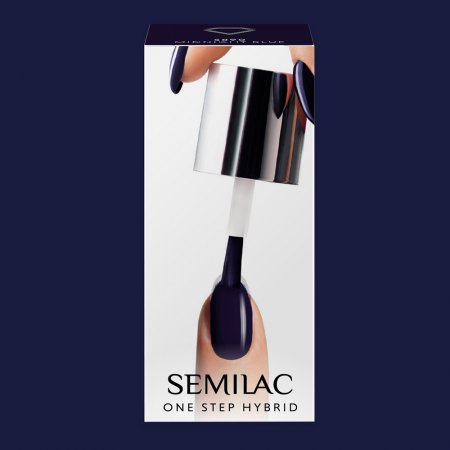 Semilac One Step Hybrid, lakier hybrydowy, 5ml, S890 Midnight Blue
