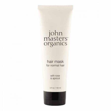 John Masters Organics, Róża & Morela, maska do włosów normalnych, 148ml
