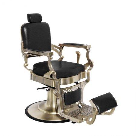Fotel barberski Gabbiano Corrado Silver Mat, czarny