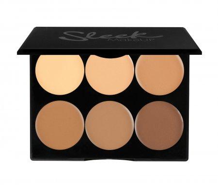 Sleek Makeup Cream Contour Kit, kremowa paleta do konturowania, Medium