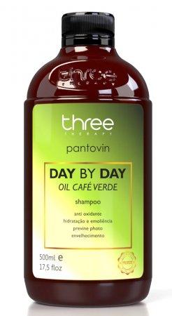 Three Therapy Cafe Verde Day by Day, szampon wzmacniający, 500g