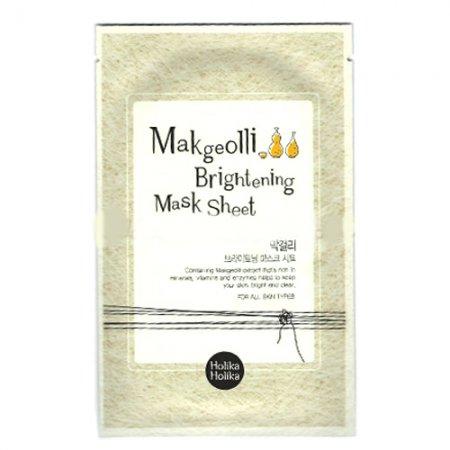 Holika Holika Makgeolli Brightening, maska w płachcie