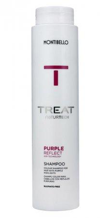 Montibello Treat Naturtech, koloryzujący szampon do włosów farbowanych Color Reflect, fioletowy, 300ml