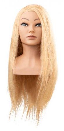 Efalock, główka treningowa Clara, włosy ludzkie złoty blond, 60cm
