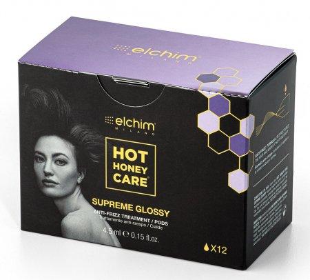 Elchim, kapsułki przeciw puszeniu z olejkiem Hot Honey Care Supreme Glossy, 12szt.