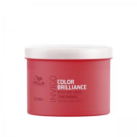 Wella Invigo Color Brilliance, maska do włosów farbowanych, normalnych i cienkich, 500ml