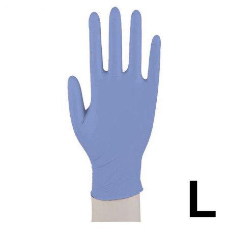Abena, rękawiczki nitrylowe bezpudrowe, rozmiar L, niebieskie, 100 sztuk