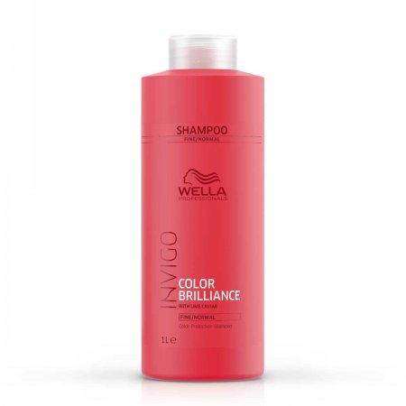 Wella Invigo Color Brilliance, szampon do włosów farbowanych, grubych, 1000ml