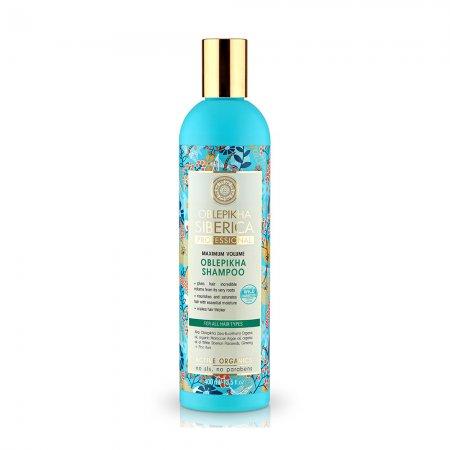 Natura Siberica, szampon rokitnikowy do każdego rodzaju włosów Maksymalna Objętość, 400ml