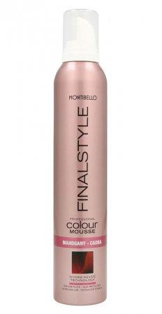 Montibello Finastyle Colour, koloryzująca pianka do włosów, mahoń, 320ml