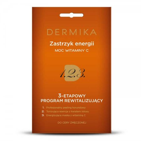 Dermika, 3-stopniowy program rewitalizujący, zastrzyk energii - moc witaminy C, 3x2ml