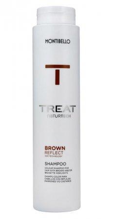 Montibello Treat Naturtech, koloryzujący szampon do włosów farbowanych Color Reflect, brązowy, 300ml