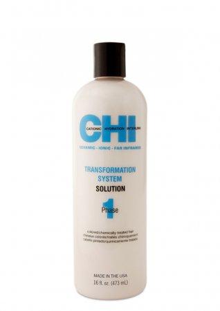CHI Transformation Bonder-Phase 1, trwałe prostowanie włosów farbowanych, 473ml