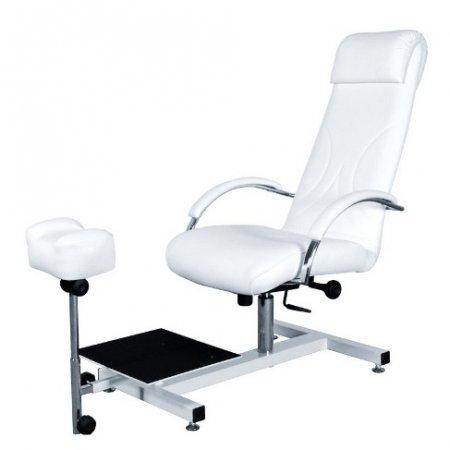 Fotel pedicure Ayala Aramis Lux w zestawie z podnóżkiem i podestem na miskę