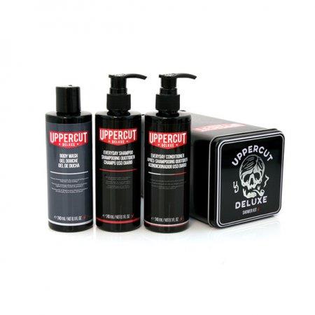 Uppercut Deluxe, zestaw pod prysznic: żel+szampon+odżywka