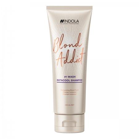 Indola Blond Addict InstaCool, szampon do chłodnych odcieni blondu, 250ml