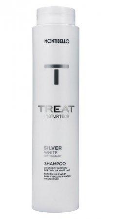 Montibello Treat Naturtech, szampon do włosów siwych Silver White, 300ml