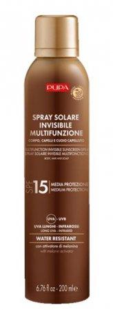 Pupa Multifunction Sunscreen, spray przeciwsłoneczny SPF15, 200ml