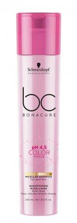 Schwarzkopf BC Color Freeze pH 4.5, micelarny szampon do ciepłego blondu, 250ml