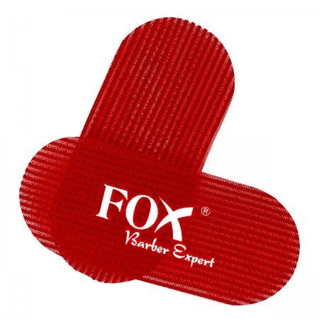 Fox, rzepy do włosów barberskie, czerwona, 2 szt