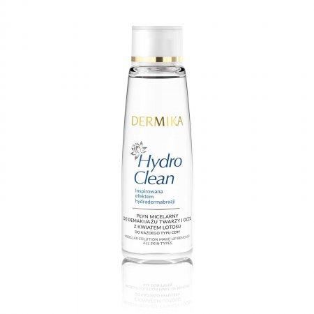 Dermika Hydro Clean, płyn micelarny do demakijażu twarzy i oczu z kwiatem lotosu, 150ml