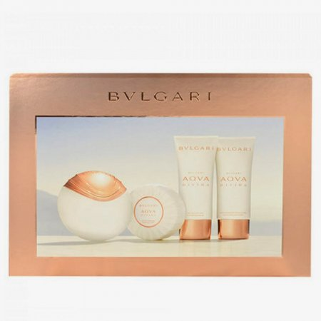 Bvlgari Aqva Divina, zestaw perfum Edt 65ml + 100ml balsam + 100ml żel pod prysznic + 150g mydło (W)