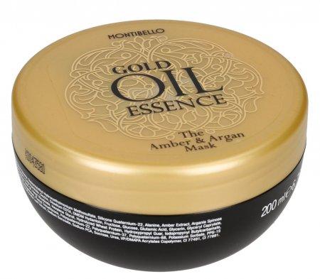 Montibello Gold Oil Essence, maska do włosów, 200ml