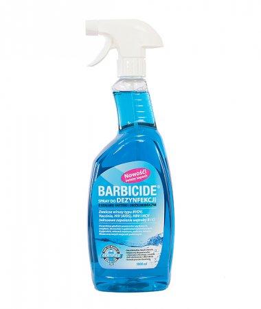Spray do dezynfekcji wszystkich powierzchni (zapachowy) Barbicide, 1000ml - pęknęta osłonka pompki