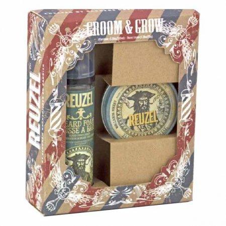 Reuzel Groom&Grow, zestaw balsam do brody + pianka do brody