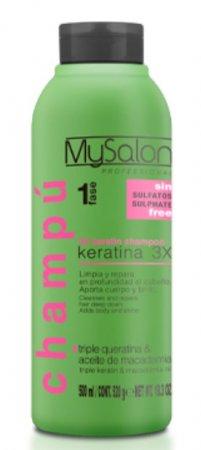 My Salon Professional Keratin, regenerujący szampon z potrójną keratyną, 500ml