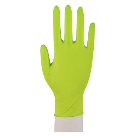 Abena, rękawiczki nitrylowe bezpudrowe, zielone, 100 sztuk