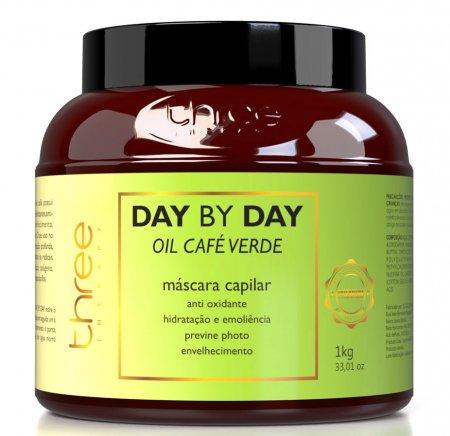 Three Therapy Cafe Verde Day by Day, maska antyoksydacyjna do włosów cienkich, 1000g