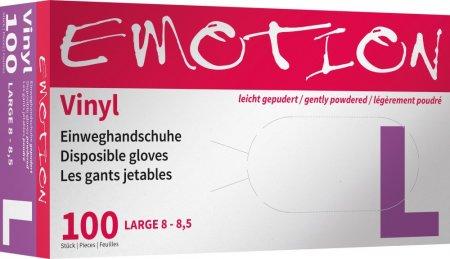 Efalock, rękawiczki winylowe, lekko pudrowane, rozmiar L, 100 sztuk