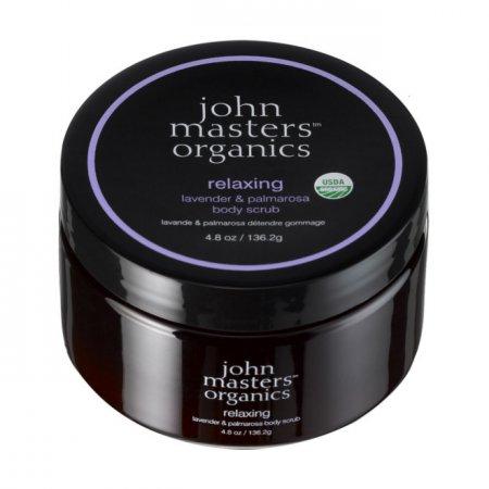 John Masters Organics, odprężająca lawenda & palmarosa, peeling do ciała, 136g